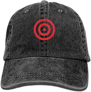 Men & Women Vintage Adjustable Denim Hat Gym Caps - I Shoot Like A Girl Target