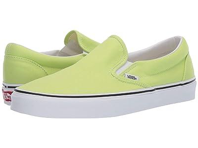 Vans Classic Slip-Ontm (Sharp Green/True White) Skate Shoes