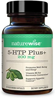 NatureWise 5-HTP Max Potency 200mg | Mood Support, Natural Sleep Aid & Helps Curb Appetite | Delayed Release Capsules Easy...