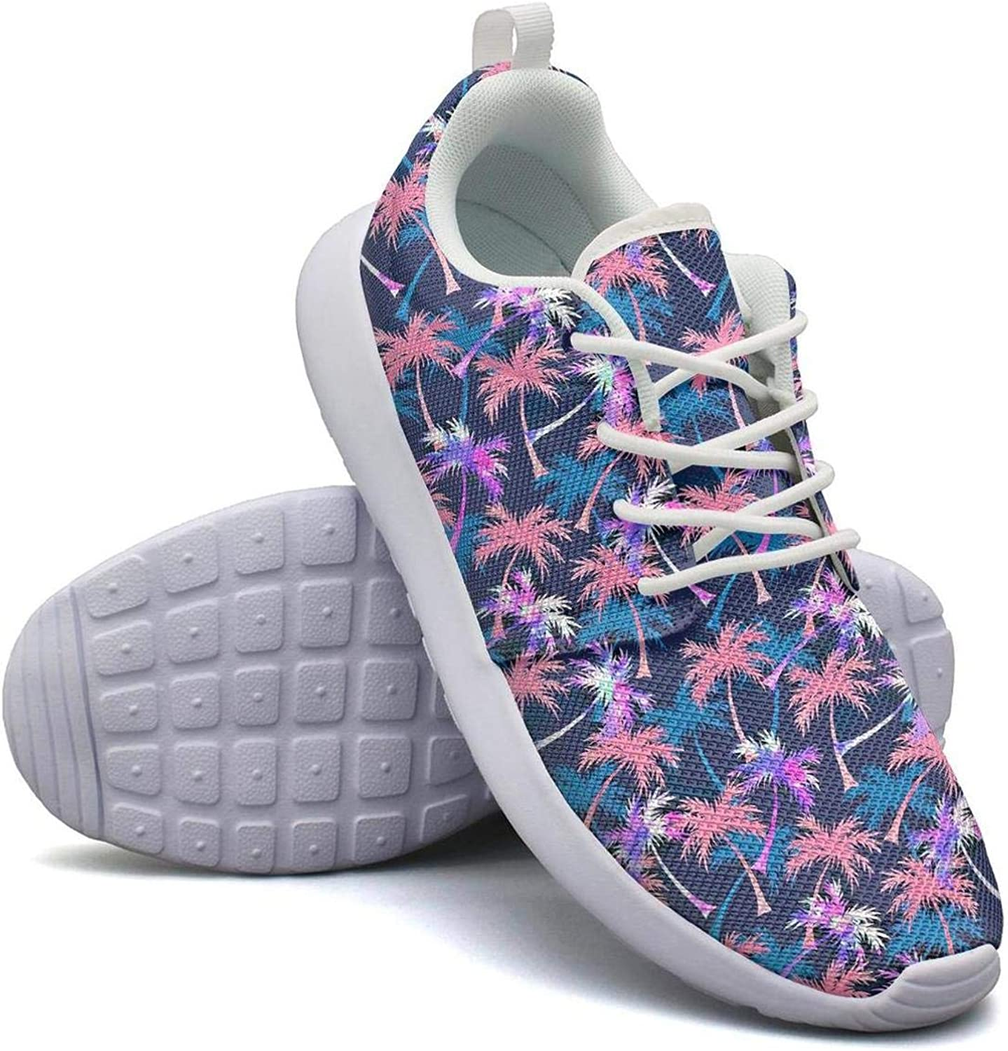 CHALi99 Womens Lightweight Mesh shoes Tropical Coconut Palm Tree Silhouettes Sneakers Running Shock Absorbing