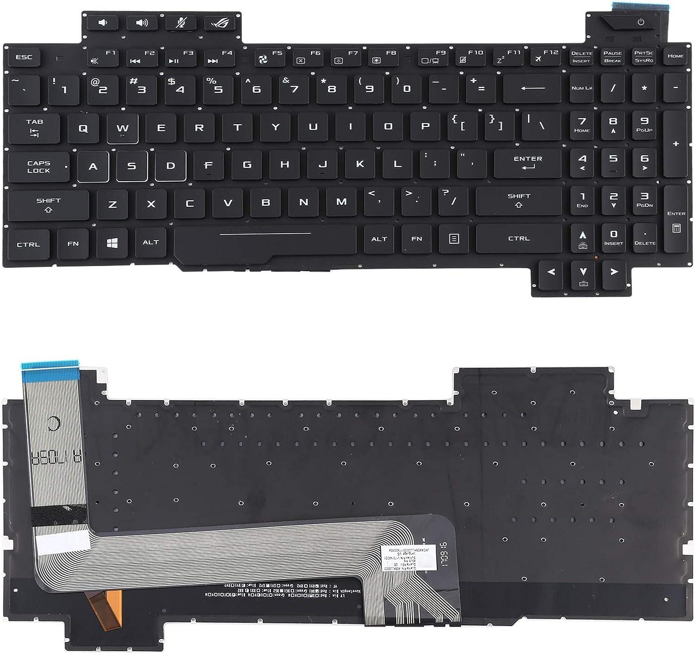 MENGHONGLLI Teclado de reemplazo portátil Teclado de la versión de los EEUU con la luz de Fondo del Teclado para ASUS ROG Strix GL503 GL703 GL503V GL503VD GL503VD-DB71 GL503VD-DB74 GL503VM GL503VS