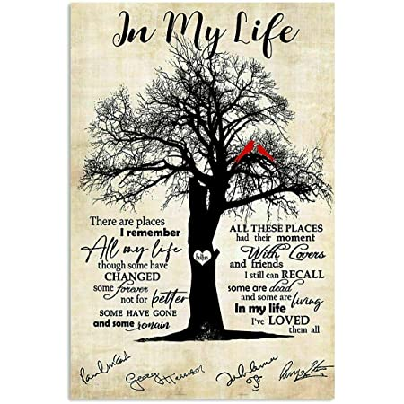 The-Beatles Poster In-My-Life Lyrics Wall Art Home Decor Poster No Frame Gift