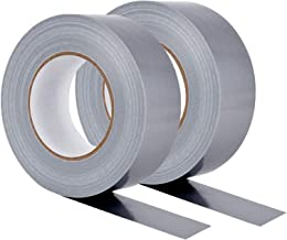2 rollen Heavy Duty Zilver/Grijs Duct Tape, DINGJIE Professionele Multi-Use Duct Tape 54 m Sterke Plakband voor Industriee...