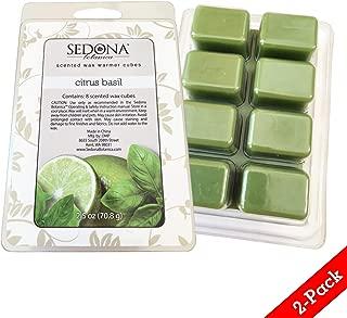 Sedona Scented Wax Warmer Cube Melts 5 oz | Citrus Basil | 2-Pack | 8 Cubes per Pack (16)