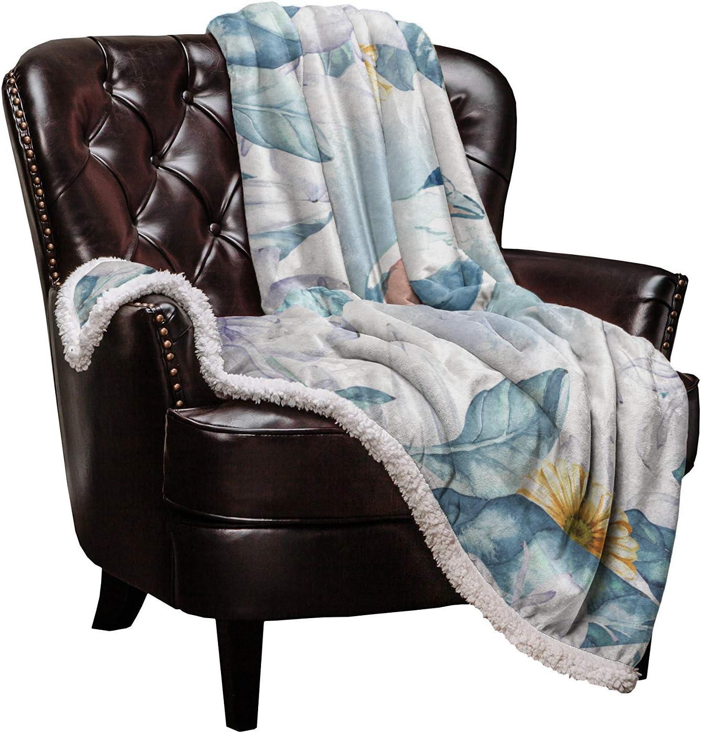 Sherpa Super-cheap Fleece Throw Blanket Floral Ranking TOP19 and Bird W Soft Blankets Warm