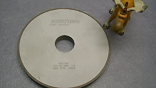 Norton Diamond Wheel 3-3//4 Diameter 1-1//2 Width 180 Grit Finishing Application 11V9 Diamond Wheel