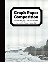 Graph Paper Composition: Graph paper pages and White Paper Blank Notebook   5x5 Composition Notebook   Quad Ruled   5 squares per inch   100 pages   8.5 x 11 in. (graph paper composition notebook)