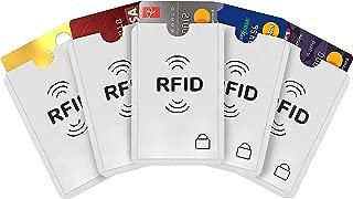 iParn RFID Sleeves Credit Card Sleeve,Credit Card Protector Sleeves Blocks Credit Cards Transfer of Pickpocketing – White RFID Credit/Debit Card Sleeves-5 Pcs