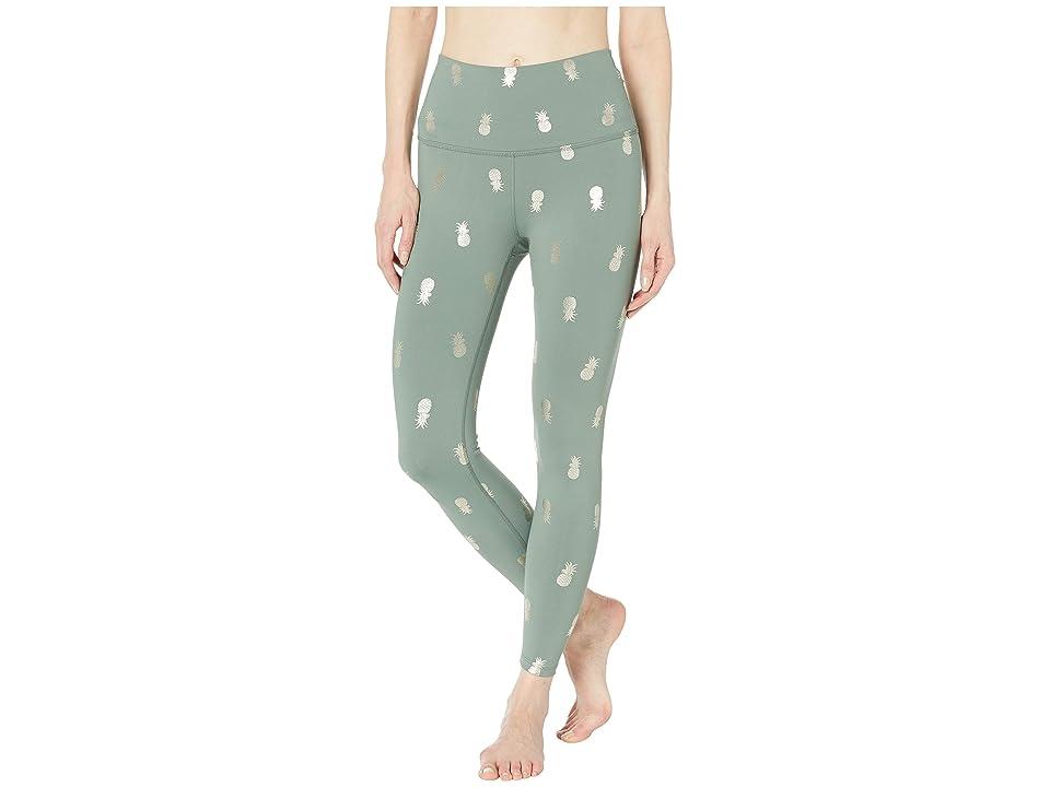Beyond Yoga High-Waisted Midi Leggings (Aloha Green Pineapples) Women