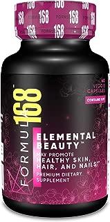 Elemental Beauty - Biotin 10,000 mcg, Hyaluronic, Soy Isoflavones, Vitamins C & E, Phytoestrogen | Collagen Capsules for Women & Men | It Works Hair Skin and Nails Vitamins 365 Everyday Value