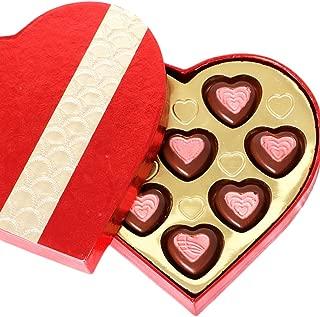 Ghasitaram Gifts Chocolate - Red and Gold Heart Chocolate Box