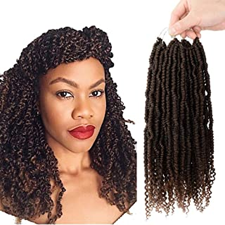 7 Pack Senegalese Spring Twist crochet Hair 14 Inch Jamaican Bounce Crochet Braids Synthetic Hair Extension 24 Roots/Pack Fluffy spring twist hair ombre T30…