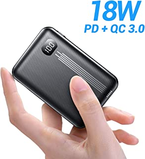 [2020 Upgraded] Portable Charger 10000mAh Power Bank, AINOPE Fast Charge 18W PD QC 3.0 Phone Battery Bank Mini Phone Charger, LED Display Compact USB Battery Pack for iPhone, Samsung, iPad Pro Etc