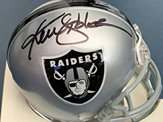 ken stabler autographed mini helmet