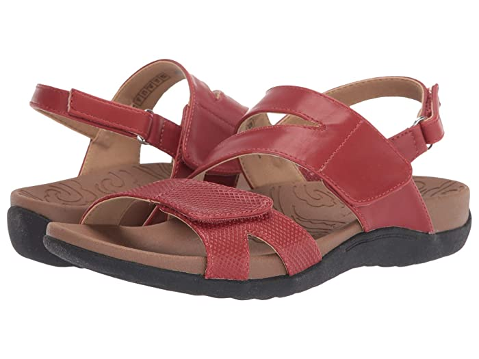 Rockport  Ridge Asymmetrical Strap (Red) Womens Sandals