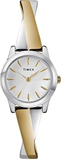 Timex Womens Quartz Watch, Analog Display And Stainless Steel Strap - TW2R98600