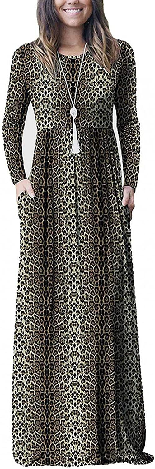 Dress for Women Casual Autumn Sexy Print Long Sleeve Long Maxi Bodycon Dress Cocktail Halloween Party Dress Vacation
