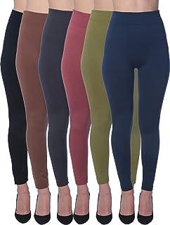6 Pack Women's Fleece Lined Soft,High...