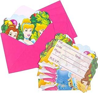 Qemsele Invitaciones para Niños, 30 Encantador Inglés Tarjetas de Invitación con Sobres para infantile Chicas Fiesta de Cumpleaños Baby Shower Decoraciones Suministros de Fiesta (Princesa)