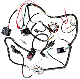 jikan complete wiring harness kit wire loom electrics stator coil cdi for atv  quad 4 four