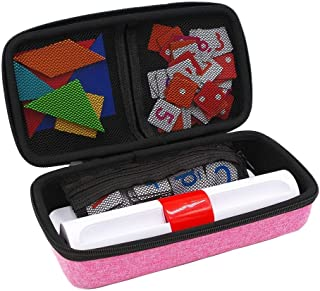 xcivi Hard Carrying Case for Osmo Genius Kit, Storage Organizer for OSMO Base/Starter/Numbers/Words/Tangram/Coding Awbie Game (Pink)