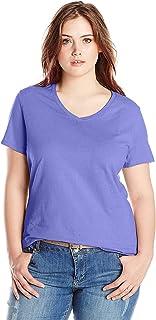 Just My Size Women's Plus-Size Short-Sleeve V-Neck T-Shirt