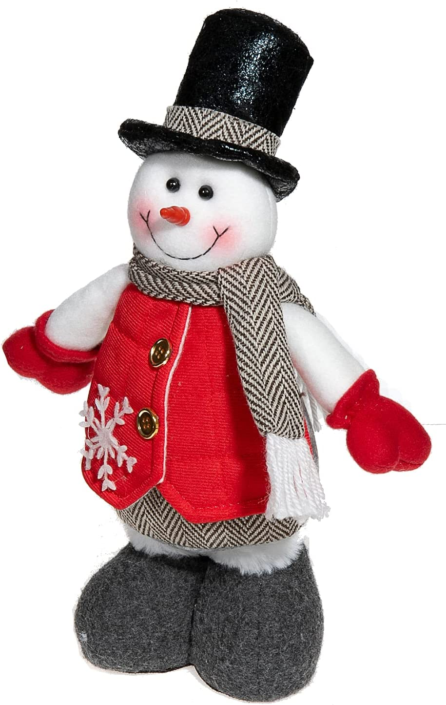 New Free Shipping IH CASADECOR Red Vest Figurines Stander Plush Daily bargain sale Snowman