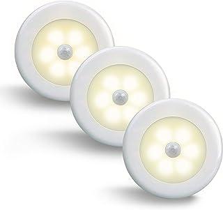 Motion Sensor Night Light, Mini Warm LED Light, Stick-Anywhere, closet Night Light with Motion Sensing Suitable for Bedroo...