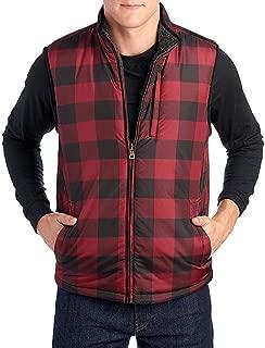 mens plaid outdoor vest