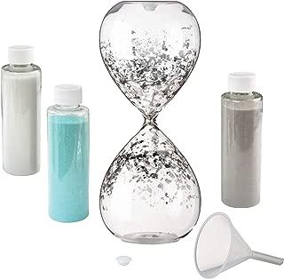 Lillian Rose AZ350001 Hourglass Wedding Unity Sand Ceremony Set, 3.25x3.25x8.25, Clear