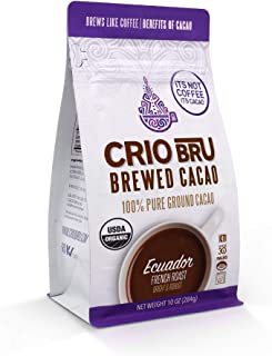 Sponsored Ad - Crio Bru Ecuador French Roast 10oz Bag | Organic Healthy Brewed Cacao Drink | Great Substitute to Herbal Te...