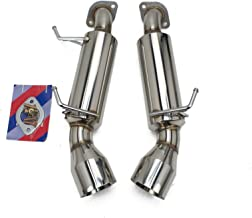 Rev9(CB-1005_1) Stainless Steel Axle-Back Exhaust Kit, Bolt-On, Doubled Wall Tip, made for Infiniti G37 Coupe(V36) 2008-13 RWD