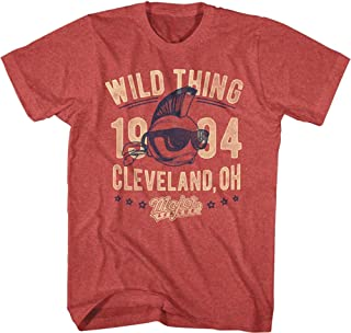 Major League 1989 Sports Comedy Movie Wild Thing Vintage Red HTHR Adult T-Shirt