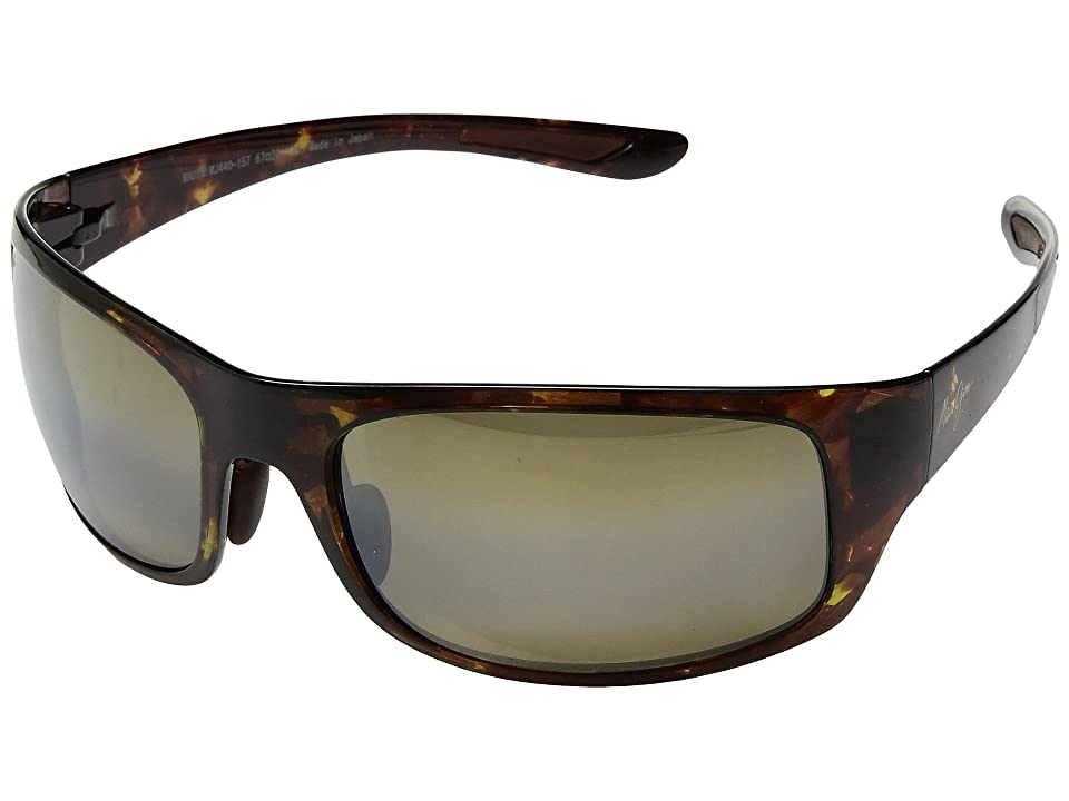 Maui Jim Big Wave (Olive Tortoise/HCL Bronze) Athletic Performance Sport Sunglasses