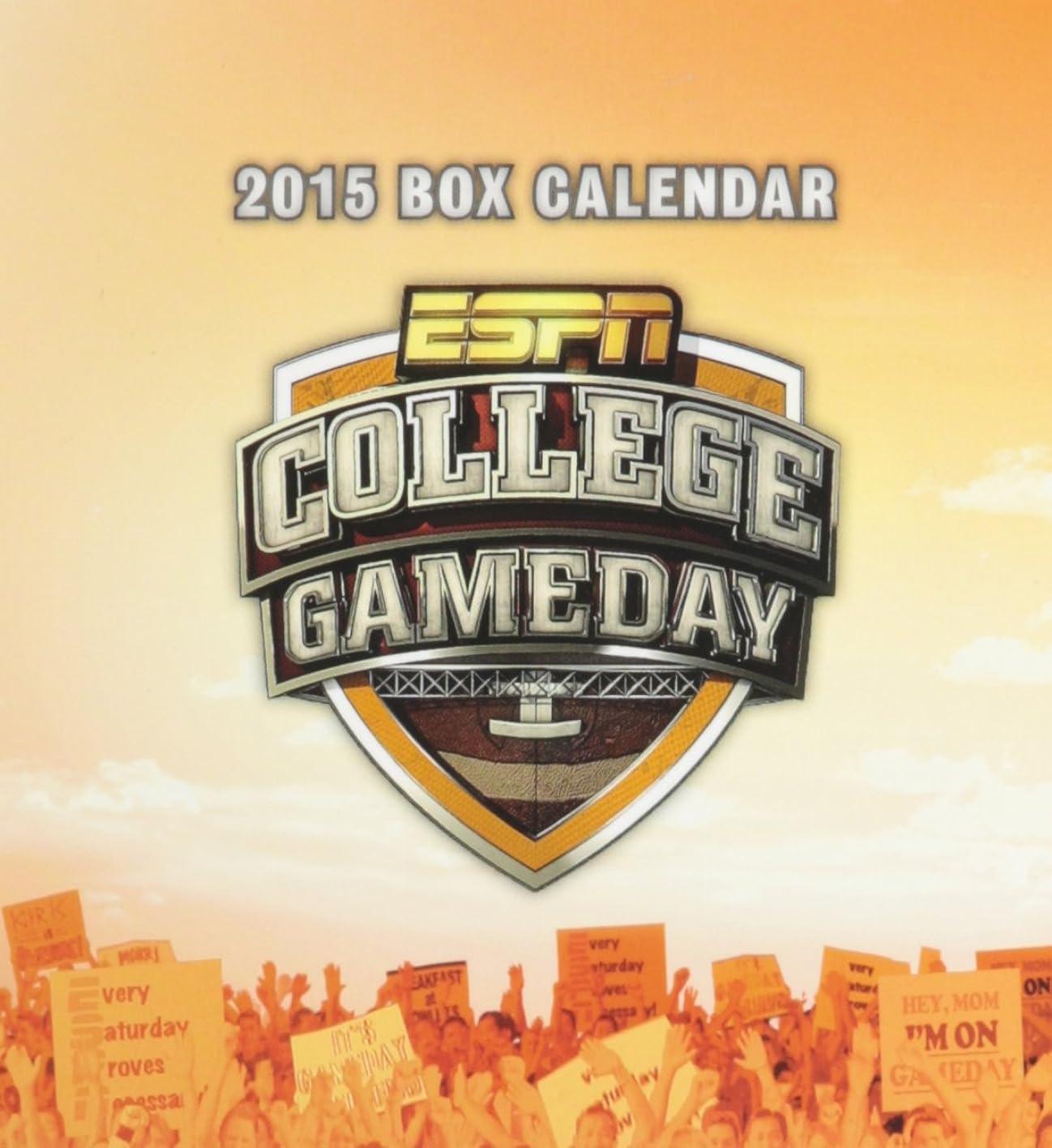 サスペンション間違い影響を受けやすいですESPN College Gameday 2015 Calendar