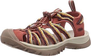 Keen Womens WHISPER W-BARBERRY/NEUTRAL GRAY Sandals