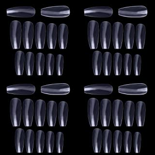 50 PC ARTIFICIAL NAILS REUSABLE WITH NAIL FREE 2 PC GLUE WITH NAIL FILE AND CUTICLE PUSHER