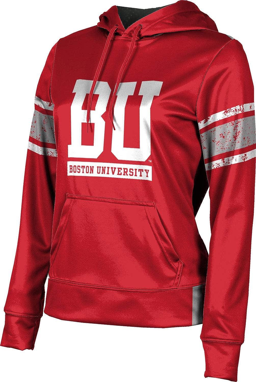 ProSphere Boston University Girls' Pullover Hoodie, School Spirit Sweatshirt (End Zone)