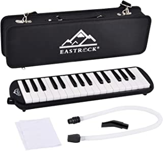 EastRock 32 Key Melodica Instrument Keyboard Soprano Piano style with Mouthpiece Tube Sets and Carrying Bag for Kids Begin...