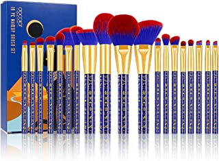 Docolor Makeup Brushes 19 Pieces Bastet Cat Makeup Brush Set Premium Synthetic Kabuki Foundation Blending Face Powder Mineral Eyeshadow Make Up Brushes Set - Ancient Egyptian Series