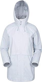 Mountain Warehouse Rain Drops Chaqueta Larga para Mujer - Chubasquero Impermeable, Costuras Selladas, Transpirable, Ligero...