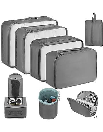 20Pcs Bolsas Organizadores de Embalaje de Viaje Transparente Bolsas de Almacenamiento de Viaje Organizadores de Equipaje para Maletas Impermeable en 5 Tama/ños Diferentes para Cosm/éticos Ropas Zapatos