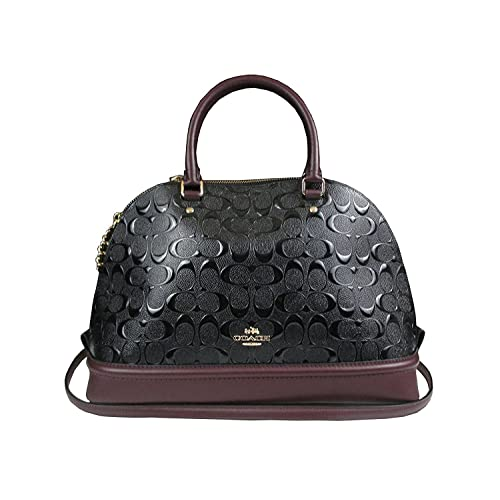 7f0040f9fd COACH SIERRA SATCHEL IN SIGNATURE DEBOSSED PATENT LEATHER F55449