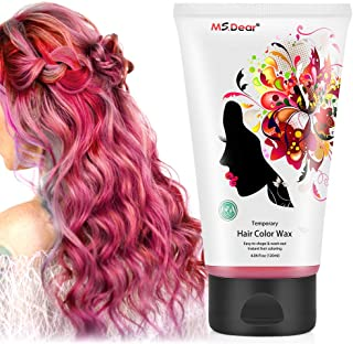 Instant Hair Wax 120g, Temporary Hair Color Dye Wax, Men Women Hair Pomades, Hair Styling Mud Fluffy Matte Best Salon Hair Clay for Party, Festival, Cosplay & Halloween - Red