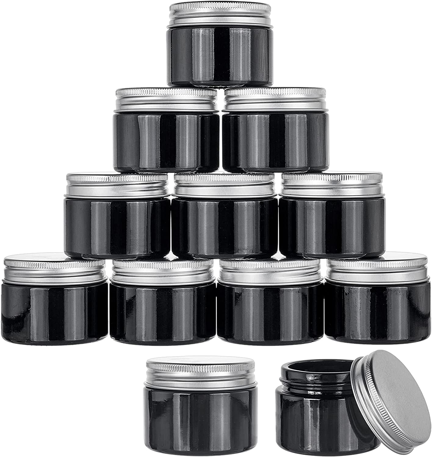 PH sold out PandaHall 12 Pack 1.7 Oz Cosmetic Glass Jars Pot Ranking TOP15 Containers