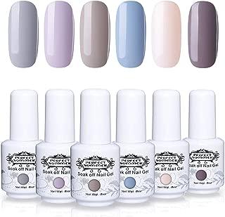 Perfect Summer Gel Nail Polish 6PCS Long Lasting Colors Gel Nail Varnish Soak Off UV LED Manicure Starter Kit 8ML 042