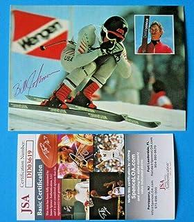 f1541eaba8 BILL JOHNSON SIGNED 4x6 POSTCARD ~ Winter Olympics Skiing Gold ~ DD03619 -  JSA Certified