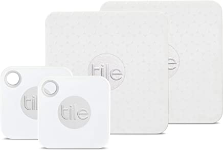 Tile Mate with Replaceable Battery and Tile Slim - 4 Pack (2 x Mate, 2 x Slim)