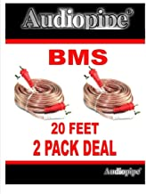 2 Pack 20 Feet 2 RCA Male to 2 RCA Male Stereo Car Audio Interconnect Cable