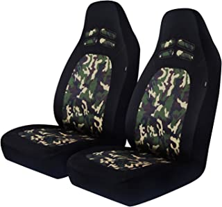 PIC AUTO Car Seat Covers, Front Seat Only, Camouflage, Heavy Duty Oxford Cloth, Airbag Compatible, Fit Most Cars, Trucks, SUVs and Vans, High Back(2PCS)